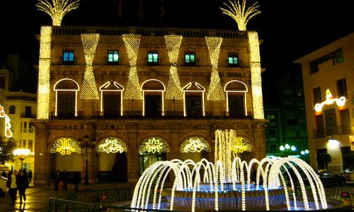 Navidad en Castellón: mercado navideño sobre patines