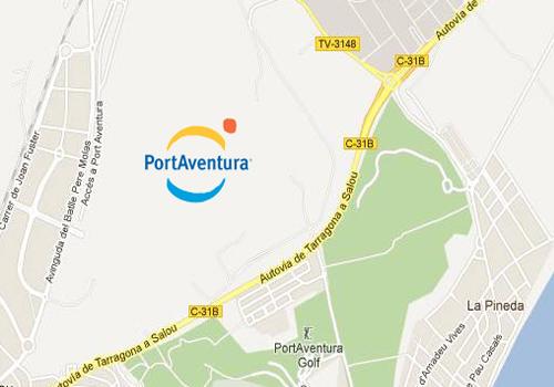 Mapa Port Aventura