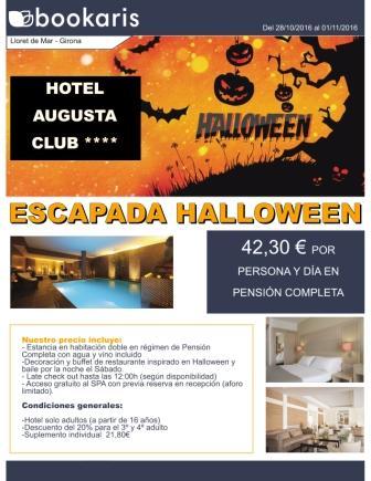 Oferta Halloween en Lloret de Mar en el Hotel Augusta Club