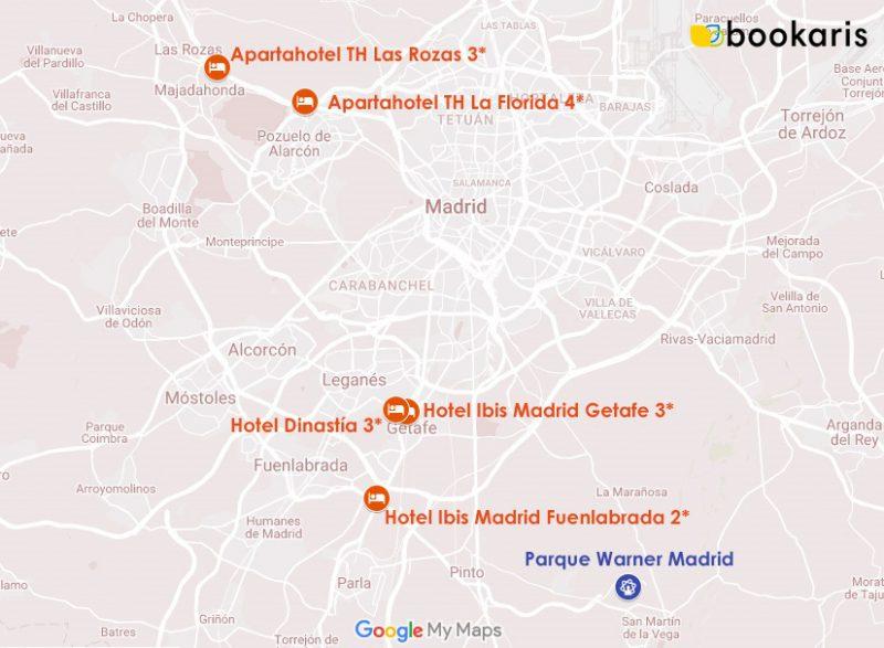 Los 5 hoteles más vendidos del Parque Warner Madrid