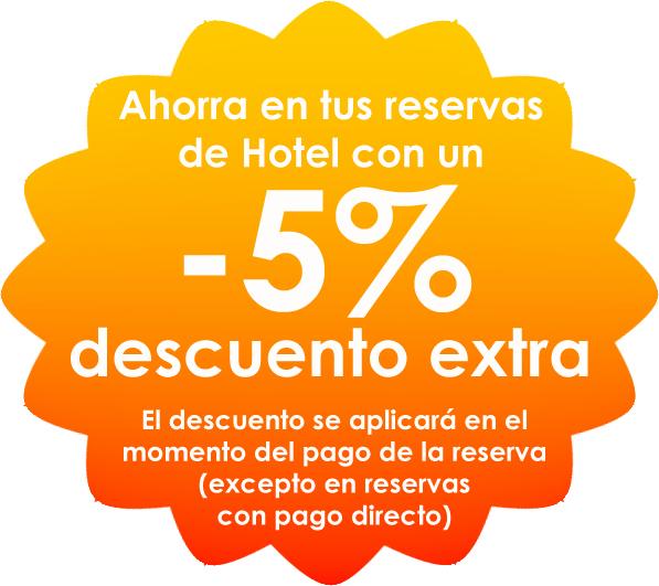 Hoteles en oferta con un 5% de descuento extra